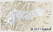 Classic Style 3D Map of Mountain