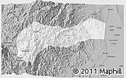 Gray 3D Map of Mountain