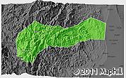 Political 3D Map of Mountain, darken, desaturated