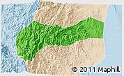 Political 3D Map of Mountain, lighten