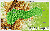 Political 3D Map of Mountain, physical outside
