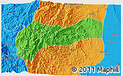 Political 3D Map of Mountain