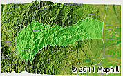 Political 3D Map of Mountain, satellite outside