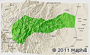 Political 3D Map of Mountain, shaded relief outside
