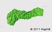 Political 3D Map of Mountain, single color outside