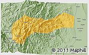 Savanna Style 3D Map of Mountain