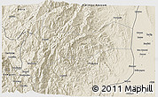 Shaded Relief 3D Map of Mountain