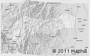 Silver Style 3D Map of Mountain