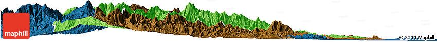 Political Horizon Map of Mountain, darken