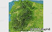 Satellite Panoramic Map of CAR