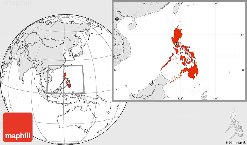 Blank location map of philippines highlighted continent gumiabroncs Choice Image