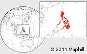 Blank Location Map of Philippines