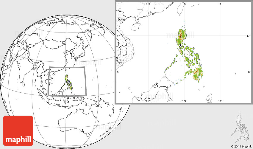 Physical location map of philippines blank outside gumiabroncs Images