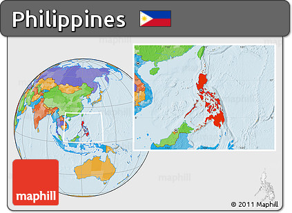 Free Political Location Map Of Philippines