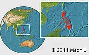 Satellite Location Map of Philippines