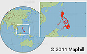 Savanna Style Location Map of Philippines