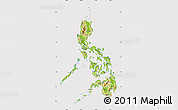 Physical Map of Philippines, cropped outside
