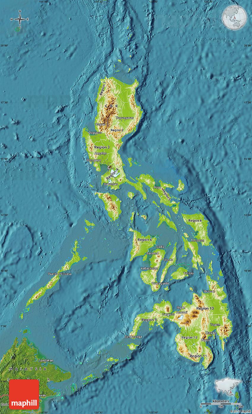 Philippinen Satelliten-karte