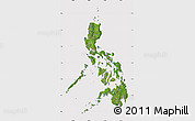 Satellite Map of Philippines, cropped outside