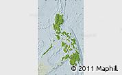 Satellite Map of Philippines, lighten