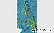 Satellite Map of Philippines, single color outside