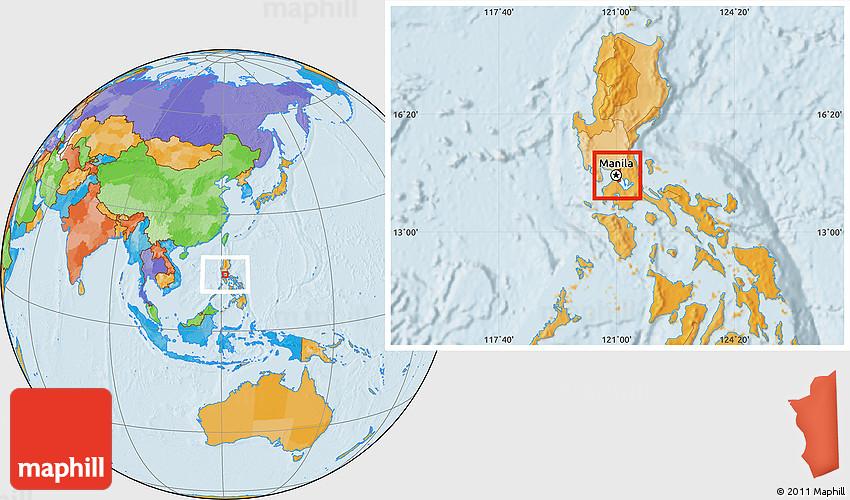 Political Location Map of Manila