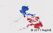 Flag Panoramic Map of Philippines
