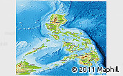 Physical Panoramic Map of Philippines