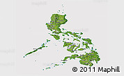 Satellite Panoramic Map of Philippines, cropped outside
