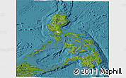 Satellite Panoramic Map of Philippines