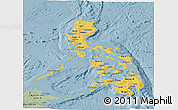 Savanna Style Panoramic Map of Philippines