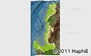 Physical 3D Map of Region 1, darken