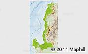 Physical 3D Map of Region 1, lighten