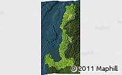 Satellite 3D Map of Region 1, darken
