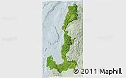 Satellite 3D Map of Region 1, lighten