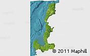 Satellite 3D Map of Region 1, single color outside