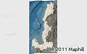Shaded Relief 3D Map of Region 1, darken