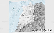 Gray 3D Map of Ilocos Norte