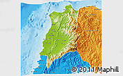 Physical 3D Map of Ilocos Norte, political outside