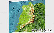 Physical 3D Map of Ilocos Norte, satellite outside