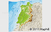 Physical 3D Map of Ilocos Norte, shaded relief outside
