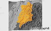Political 3D Map of Ilocos Norte, darken, desaturated