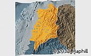 Political 3D Map of Ilocos Norte, darken, semi-desaturated