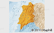 Political 3D Map of Ilocos Norte, lighten