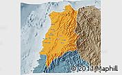 Political 3D Map of Ilocos Norte, semi-desaturated