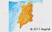 Political 3D Map of Ilocos Norte, single color outside