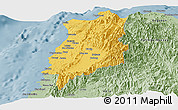 Savanna Style Panoramic Map of Ilocos Norte
