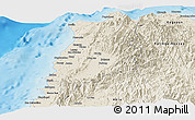 Shaded Relief Panoramic Map of Ilocos Norte