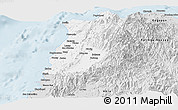 Silver Style Panoramic Map of Ilocos Norte