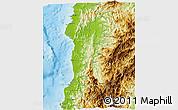 Physical 3D Map of Ilocos Sur